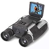 2'' FHD Digitalkamera Fernglas,SGODDE FS608R Kamera Binoculars 12x32 5MP -5,1 cm LCD HD 1080p Digital Teleskop-Video-Kamera