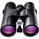 Fernglas 10x42 für Vogelbeobachtung, Jagd, Safari - HD bak4 Linsen, Wasserdicht (10x42, Schwarz)