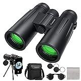 Usogood 12x50 Fernglas für Erwachsene mit Stativ, Wasserdicht Kompaktes Fernglas für Vogelbeobachtung, Wandern, Reisen, Jagd und Sportveranstaltungen, Smartphone Adapter für Fotografie