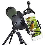 Gosky, Spektiv, 20- bis 60-fach, 80 mm, Prisma, wasserdicht, für Vogelbeobachtung / Bogenschießen / Outdoor-Aktivitäten, mit Stativ und Digiskopie-Adapter